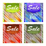 Set of sale abstract banners design. Sale vector banner template design Royalty Free Stock Image