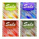 Set of sale abstract banners design. Sale vector banner template design Royalty Free Stock Photography