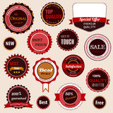 Set of sale badges, labels and stickers Royalty Free Stock Image