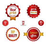 Set of sale badges, labels and stickers Stock Photos