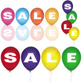 Set of sale balloons Royalty Free Stock Photo