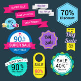 Set of sale banner. Sale Labels. Illustration Royalty Free Stock Photos