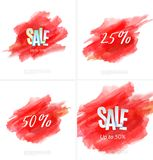 Set of sale banner template design. Special offer, colourful letters for shopping, mall, trade, retail. Stock Photos