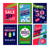 Set of sale banners and advertistment web templates. Modern flat thin line design vector illustration, set of sale banners and advertistment web templates, for Royalty Free Stock Image