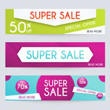 Set of sale banners design. Sale paper banner. Sale and discount Royalty Free Stock Photography