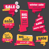Set of  sale banners in origami style Royalty Free Stock Photography