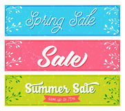 Set of sale banners. Retro and vintage style with Royalty Free Stock Photography