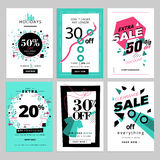 Set of sale banners for smartphone Royalty Free Stock Image