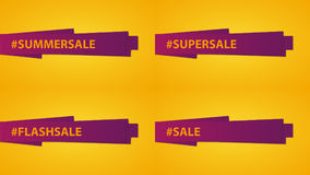 Set of Sale banners. Special price. Discount. Summer sale. Template design with hashtag. Royalty Free Stock Images