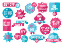 Set of Sale and Best Choice Badges and Labels Royalty Free Stock Photo