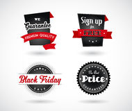 Set of Sale, Black Friday, Sign up for Free, Premium Quality Royalty Free Stock Photo