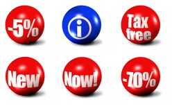 Set of sale buttons Stock Images