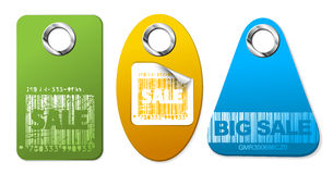 Set of sale colorful tags Stock Images