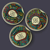Set of Sale decorative vector Labels Royalty Free Stock Photography