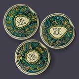 Set of Sale decorative vector Labels Stock Image