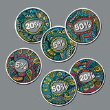 Set of Sale decorative vector Labels Royalty Free Stock Image