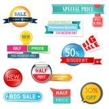 Set of sale design elements Stock Photos