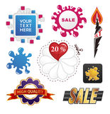 Set of sale design elements Royalty Free Stock Photography
