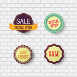 Set of sale design elements Royalty Free Stock Photos