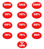 Set of sale and discount buttons Royalty Free Stock Photo