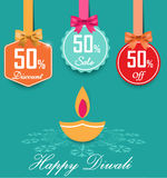 Set of 50% sale and discount flat color labels with bows and ribbons Style Sale Tags Design, 50 off. Vector eps10 Royalty Free Illustration