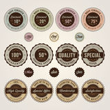 Set of sale and discount labels and stickers Stock Image