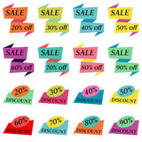 Set of Sale Discount Labels, Tags, Emblems Royalty Free Stock Images