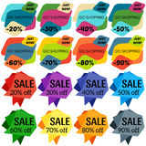 Set of Sale Discount Labels, Tags, Emblems. Royalty Free Stock Image