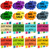 Set of Sale Discount Labels, Tags, Emblems Royalty Free Stock Image