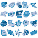 Set of Sale Discount Labels, Tags, Emblems Stock Photo