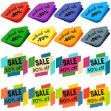 Set of Sale Discount Labels, Tags, Emblems. Web collection of stickers and badges for sale. Stock Photo