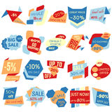 Set of Sale Discount Labels, Tags, Emblems Stock Images