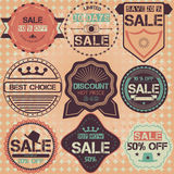 Set of sale discount retro vintage badges, ribbons and labels hi Royalty Free Stock Photos