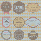 Set of sale discount retro vintage badges, ribbons and labels hi Royalty Free Stock Photo