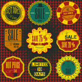 Set of sale discount retro vintage badges, ribbons and labels hi Royalty Free Stock Photography