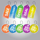 Set of Sale And Discount Tags Stock Images