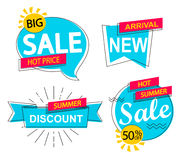 Set of sale, discounts and new arrivals labels. Royalty Free Stock Photography
