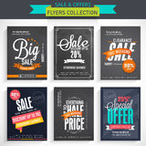 Set of Sale flyer collection. Stock Photos