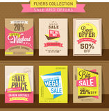 Set of sale flyer, poster or banner design. Royalty Free Stock Photo