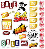 Set of SALE Graphics Royalty Free Stock Photography