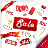 Set of sale icons, labels, stickers. Stock Photo