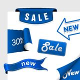 Set of sale icons, labels, stickers. Royalty Free Stock Images