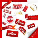 Set of sale icons, labels, stickers. stock illustration