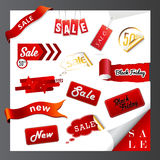 Set of sale icons, labels, stickers. Vector art Royalty Free Stock Images