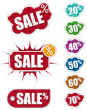 Set of sale labels Stock Images