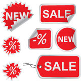 Set of sale labels Royalty Free Stock Photos
