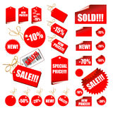 Set of sale labels. This illustration can be used for your design Royalty Free Stock Image