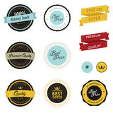 Set of sale labels, badges and stickers. Set of vintage sale labels, badges and stickers Royalty Free Stock Image