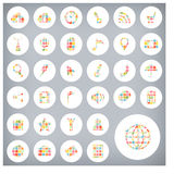 Set of sale labels and icons design Stock Photos