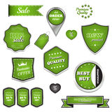 Set of  sale labels and icons Stock Photos
